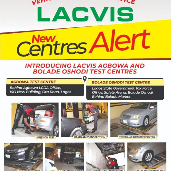 New Centres Alert! Bolade Oshodi and Agbowa Test Centres Joins The LACVIS Family